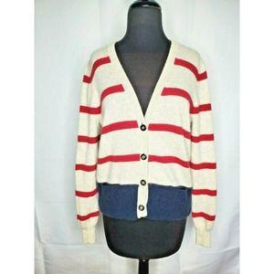 AUTUMN CASHMERE Striped V-neck Cardigan